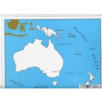 Cardboard Map of Oceania/Capitals/English    GZ-229.3    ►COMPLIMENTARY-ITEM   qty 1◄
