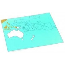 Cardboard Map of S. Pacific Ocean     GZ-229.PC1    ►COMPLIMENTARY-ITEM◄