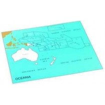Cardboard Map of S. Pacific Ocean    GZ-229.PC2    ►COMPLIMENTARY-ITEM qty 2◄