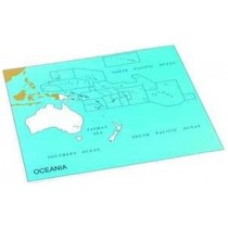 Cardboard Map of S. Pacific Ocean    GZ-229.PC3   ►COMPLIMENTARY-ITEM qty 4◄