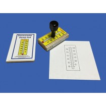 Celsius Thermometer Rubber Stamp and Ink Pad ● M-151  OUT OF STOCK