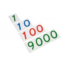 Plastic number cards 1 to 9000/ 0072C0    NH-097   ■SOLD OUT■QUOTE REQUIRED■