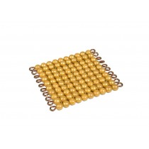 Golden Bead Square of 100/ 0084AM       NH-089      ■SOLD OUT■