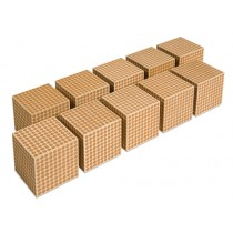 Wooden Thousand Cubes - Set of 10/007510    NH-096        ■SOLD OUT■