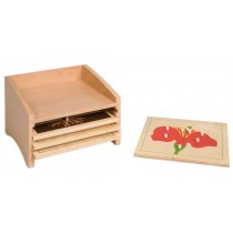 Botany Puzzle Cabinet w/4 Small Puzzles/ 020050    NH-213       ■SOLD OUT■