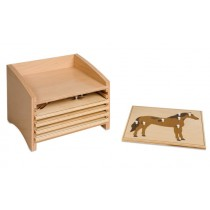 Animal Puzzle Cabinet w/5 Small Puzzles/020100    NH-217      ■SOLD OUT■QUOTE REQUIRED■