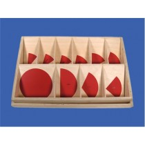 RED PLASTIC FRACTION CIRCLES TO 10TH ● MF-10TH