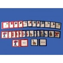 Movable Alphabet Picture Cards (14 Exercises & 14 Control Booklets) Laminated ● S-100-S-103