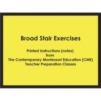 Broad Stair Exercises (CME notes) ● SENS-CME-024