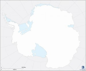 Paper Map, Set of 50: Antarctica - Outline  KB ►COMPLIMENTARY ITEM◄