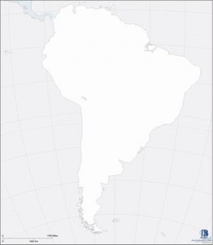 Paper Map, Set of 50: South America - Outline  KB