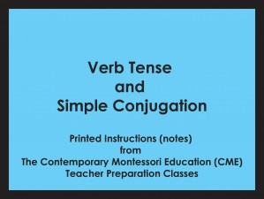 Verb Tense and Simple Conjugation (CME notes) ● LANG-CME-099