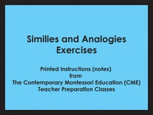 Similies and Analogies Exercises (CME notes) ● LANG-CME-309