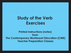 Study of the Verb Exercises (CME notes) ● LANG-CME-S-125
