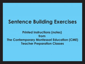 Sentence Building Exercises (CME notes) ● LANG-CME-S-129