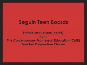 Seguin Teen Boards (CME notes) ● MATH-CME-104