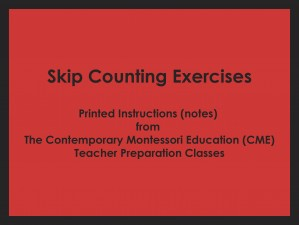 Skip Counting Exercises (CME notes) ● MATH-CME-110