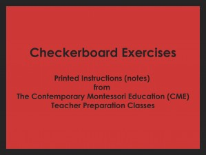 Checkerboard Exercises (CME notes) ● MATH-CME-140