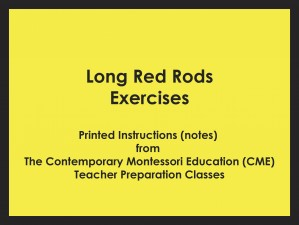 Long Red Rods Exercises (CME notes) ● SENS-CME-026