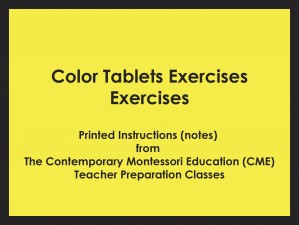 Color Tablets Exercises (CME notes) ● SENS-CME-027