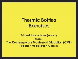 Thermic Bottles Exercises (CME notes) ● SENS-CME-036