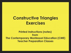 Constructive Triangles Exercises (CME notes) ● SENS-CME-040