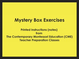 Mystery Box Exercises (CME notes) ● SENS-CME-044