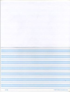 Blue Shaded Paper Half Page (Print) ● F-701