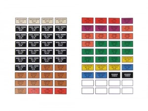 GR-210 LABELS for Storage Cabinet