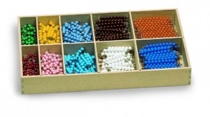 Colored Bead-bars for Decanomial with Box      GZ-126       ♣AVAILABLE (qty 1)♣