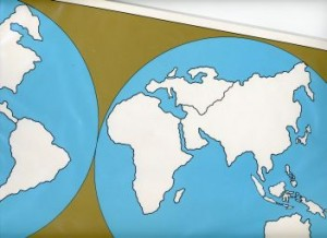 Cardboard Map of the World    GZ-221.1      ►COMPLIMENTARY-ITEM◄