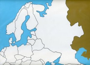 Cardboard Map of Europe - Unlabeled   GZ-226.1    ►COMPLIMENTARY-ITEM◄
