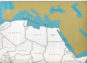 Cardboard Map of Africa/Countries/English   GZ-228.2   ►COMPLIMENTARY-ITEM◄