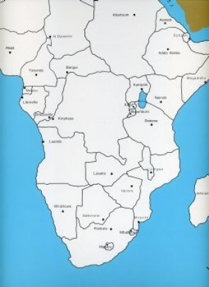 Cardboard Map of Africa/Capitals/English    GZ-228.3     ►COMPLIMENTARY-ITEM qty 3◄