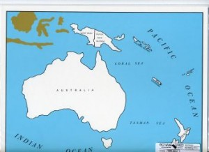 Cardboard Map of Oceania/Countries/English      GZ-229.2     ►COMPLIMENTARY-ITEM  qty 3◄