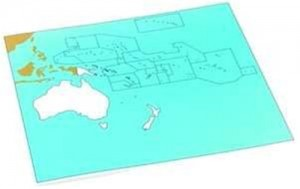 Cardboard Map of S. Pacific Ocean     GZ-229.PC1    ►COMPLIMENTARY-ITEM qty 4◄