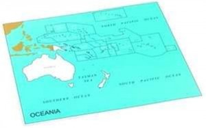 Cardboard Map of S. Pacific Ocean    GZ-229.PC2    ►COMPLIMENTARY-ITEM qty 3◄