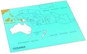 Cardboard Map of S. Pacific Ocean    GZ-229.PC3   ►COMPLIMENTARY-ITEM qty 5◄
