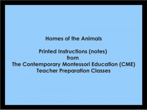 Homes of the Animals (CME notes) ● LANG-CME-S-134
