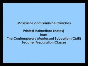 Masculine and Feminine Exercises (CME notes) ● LANG-CME-S-123