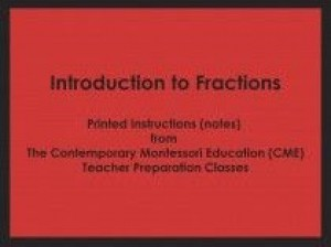 Introduction to Fractions (CME notes) ● MATH-CME-149