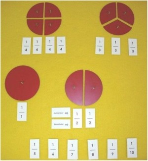Fraction Labels for Numerator & Denominator LAMINATED ● MF-26-A
