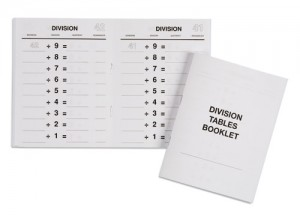 Division Tables Booklets/ 559551     NH-128.1      ♣AVAILABLE qty 2♣