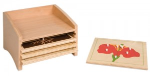 Botany Puzzle Cabinet w/4 Small Puzzles/ 020050    NH-213       ■SOLD OUT■QUOTE REQUIRED■