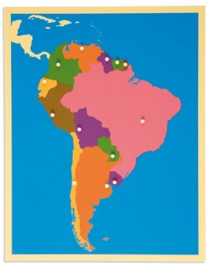 SOUTH AMERICA – Puzzle Map/0176E0     NH-225    ■SOLD OUT■QUOTE REQUIRED■