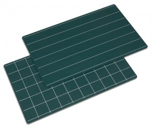 Set of 2 Lined & Squared Chalkboards/006700    NH-L01     ♣AVAILABLE  (qty 1)♣