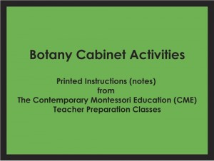 Botany Cabinet Activities (CME notes) ● SENS-CME-209