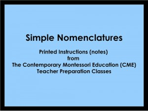 Simple Nomenclatures (CME notes) ● LANG-CME-S-140-146