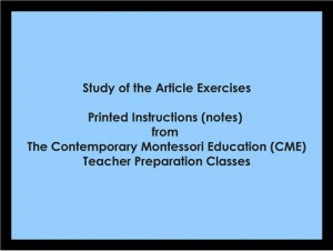 Study of the Article Exercises (CME notes) ● LANG-CME-S-127