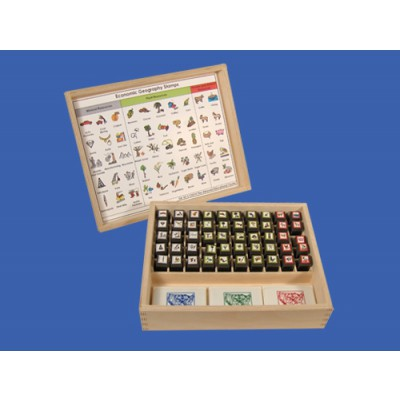 Economic Geography Rubber Stamps